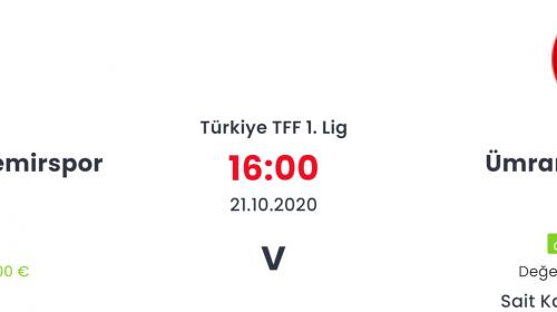 Adana Demirspor Ümraniyespor İddaa ve Maç Tahmini 21 Ekim 2020