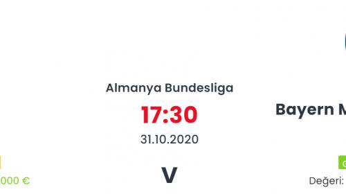Köln Bayern Münich İddaa ve Maç Tahmini 31 Ekim 2020