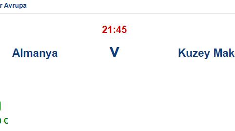 Almanya Kuzey Makedonya İddaa ve Maç Tahmini 31 Mart 2021