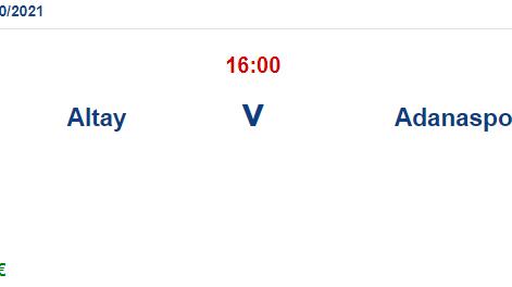 Altay Adanaspor İddaa ve Maç Tahmini 19 Nisan 2021