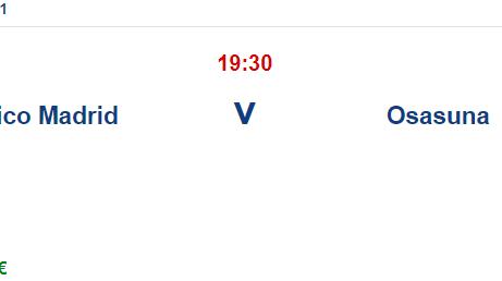 Atletico Madrid Osasuna İddaa ve Maç Tahmini 16 Mayıs 2021
