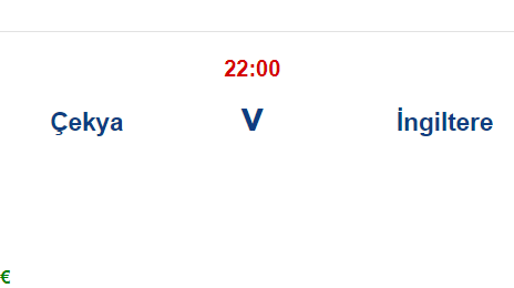 Cekya İngiltere İddaa Maç Tahmini 22 Haziran 2021