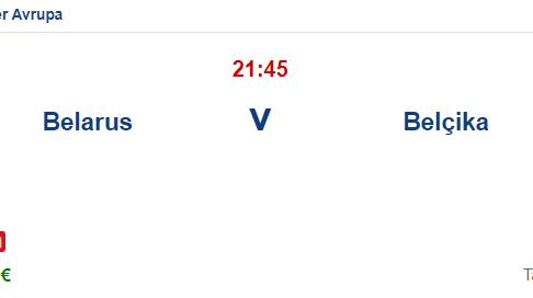 Belarus Belçika İddaa ve Maç Tahmini 8 Eylül 2021
